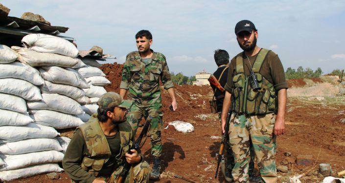 Soldados del ejército sirio en la provincia de Daraa