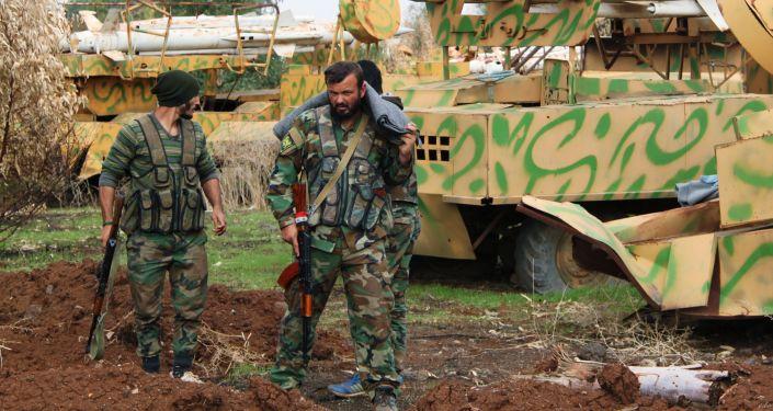 Soldados de ejército sirio
