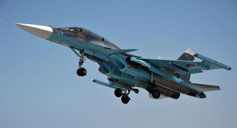 Caza ruso Sukhoi Su-34 en Siria