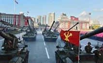 Desfile militar en Pyongyang