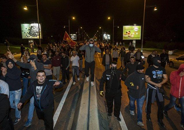 Protestas en Podgorica, la capital de Montenegro (archivo)