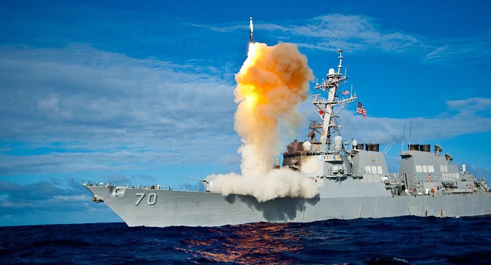 Lanzamiento de una cohete SM-3