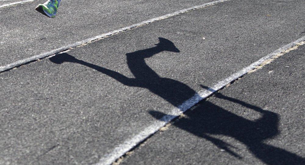La sombra de un maratonista