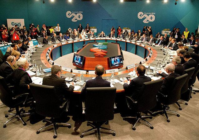 Sesión de la cumbre del G20 en Australia