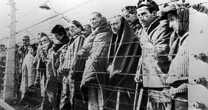 Presos del campo de concentración de Auschwitz-Birkenau