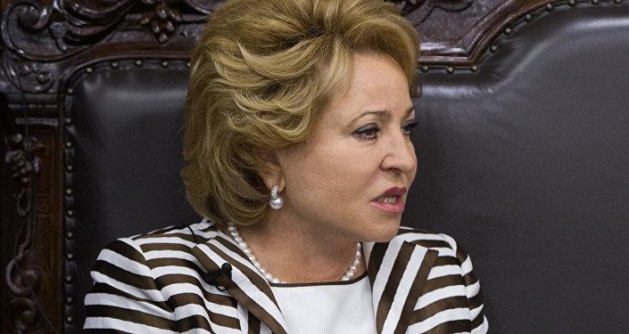 Valentina Matvienko, presidenta del Consejo de la Federación de Rusia