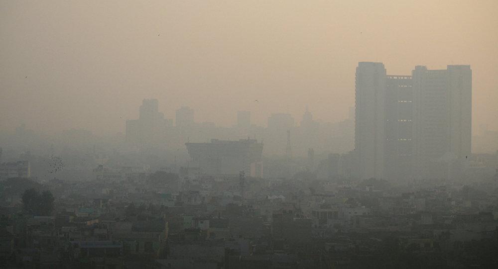 Contaminación de aire en el oeste de Delhi