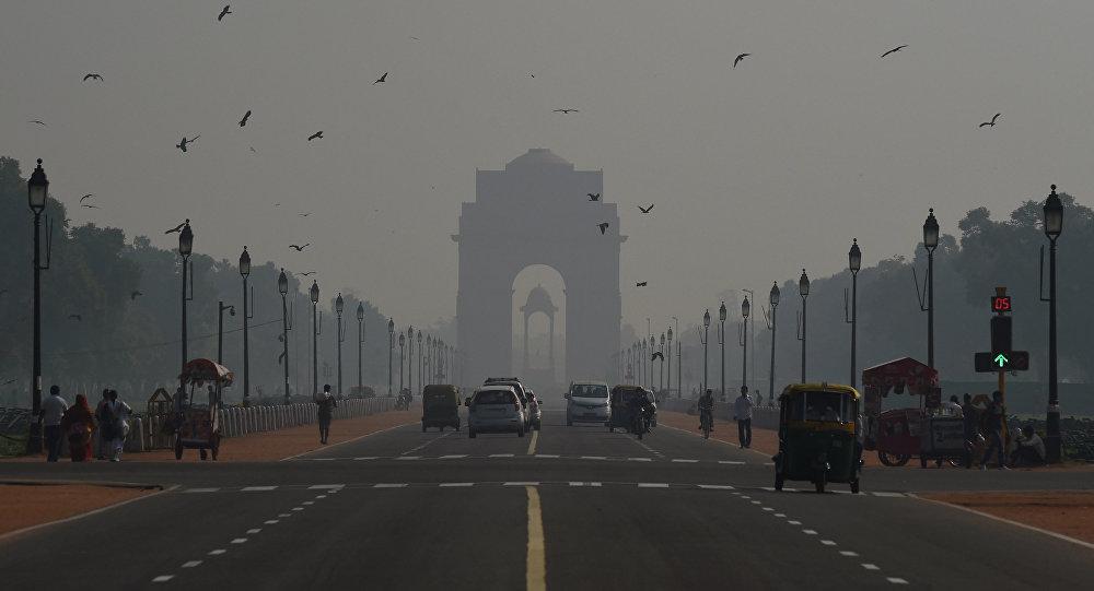 Contaminación de aire en Nueva Delhi