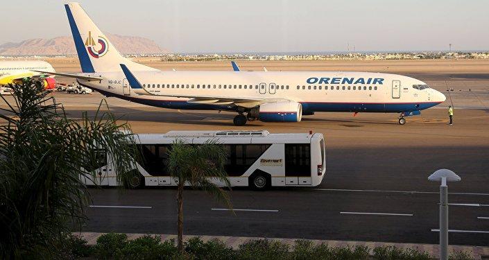 Avión de la compañía aérea rusa Orenair en el aeropuerto de Sharm el Sheikh (archivo)