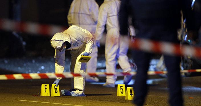 El lugar de uno de los atentados en París