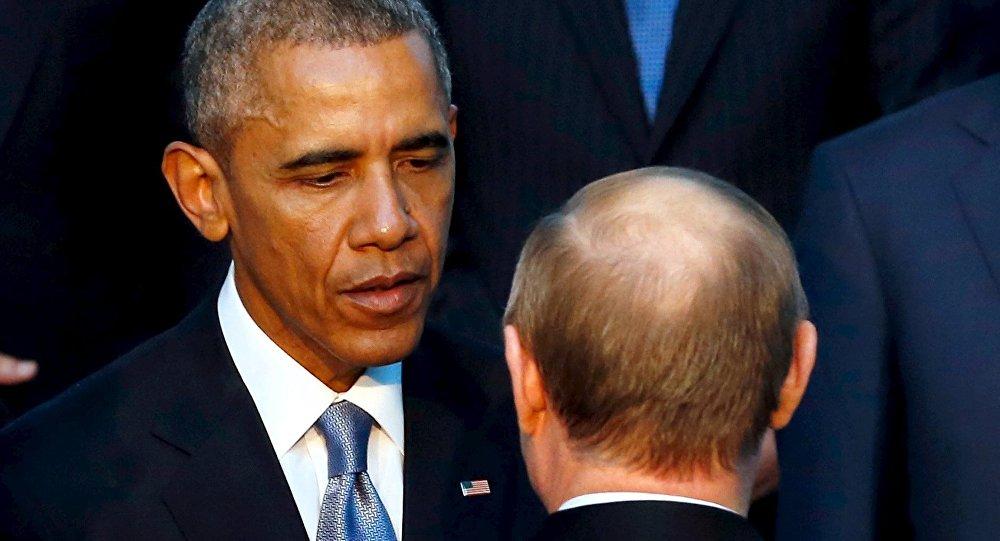 Barack Obama, presidente de EEUU y Vladímir Putin, presidente de Rusia