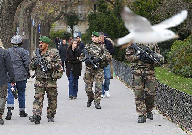Patrulla militar francésa (archivo)