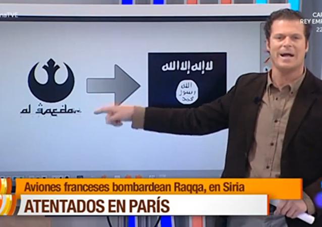 Televisión española confunde el emblema de Al Qaeda con otro de Star Wars