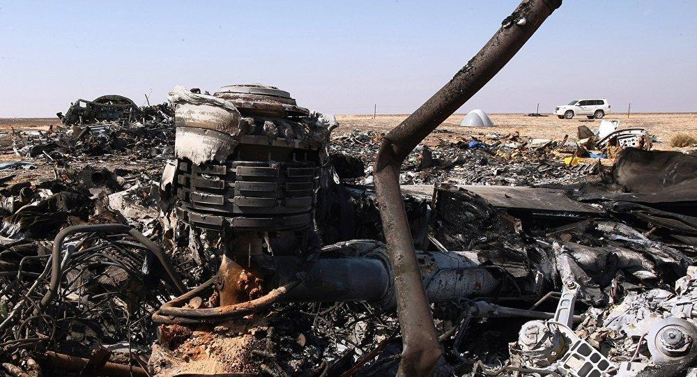 Lugar del siniestro del A321 en Egipto