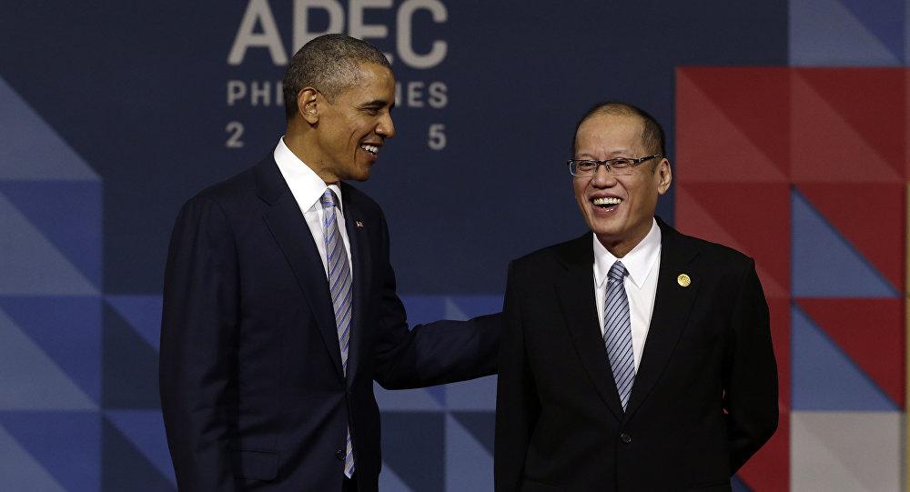 Presidente de EEUU, Barack Obama, presidente de Filipinas, Benigno Aquino
