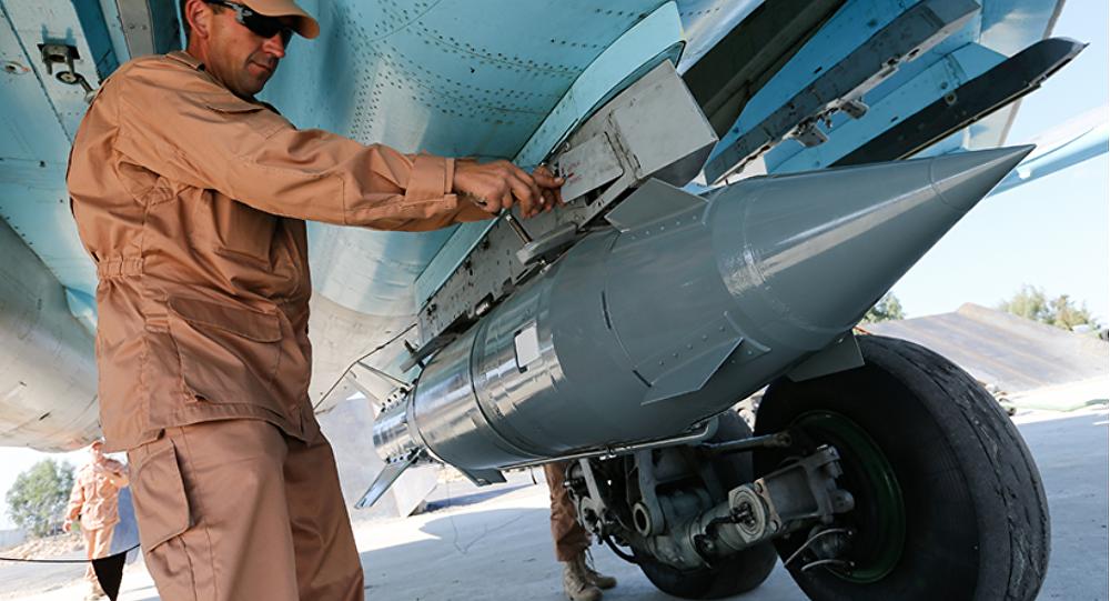 Fuerzas aeroespaciales de Rusia en el aeródromo de Hmeymim en Siria