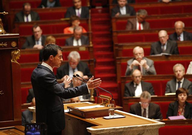 Sesión de la Asamblea Nacional francesa sobre el estado de emergencia