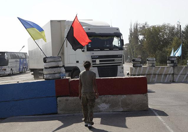 Bloqueo de Crimea por Pravy Sector
