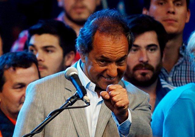 Daniel Scioli, candidato oficialista a la presidencia de Argentina