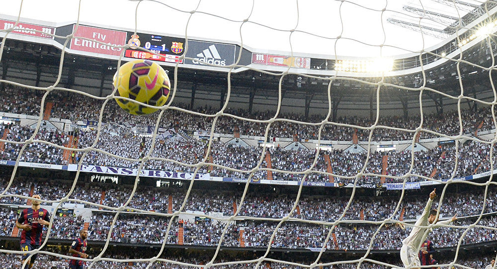 Match Real Madrid CF vs FC Barcelona at the Santiago Bernabeu stadium in Madrid
