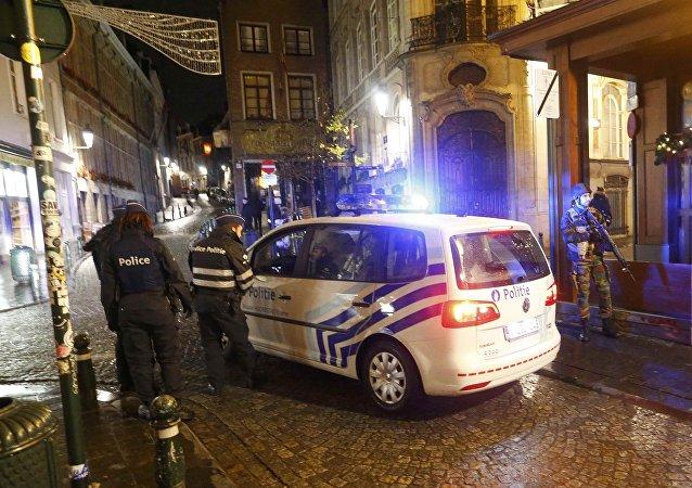 Operación policial en el centro de Bruselas