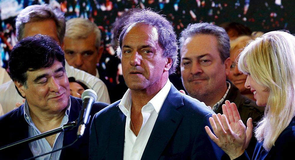 Daniel Scioli, candidato presidencial del Frente para la Victoria
