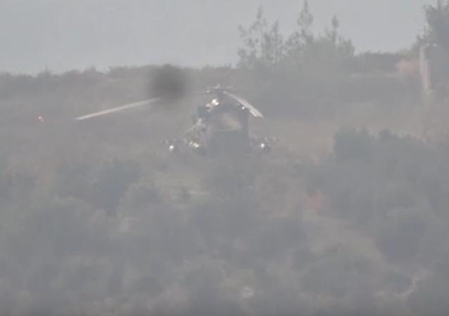 Infante de marina ruso muere en Siria a causa de ataque contra helicóptero Mi-8