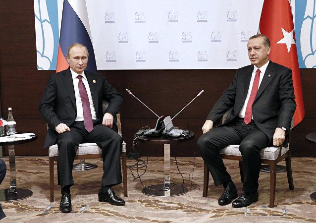 El presidente de Rusia, Vladímir Putin y el presidente de Turquía, Recep Tayyip Erdogan (archivo)