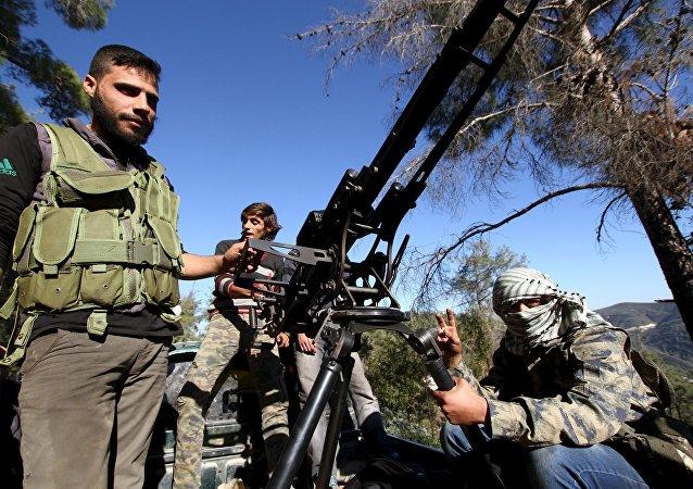 Milicias turcomanas apoyadas por Turquía en Siria