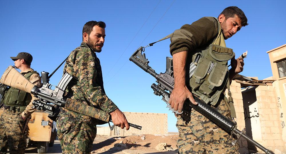 Soldados de la coalición de Fuerzas Democráticas sirias