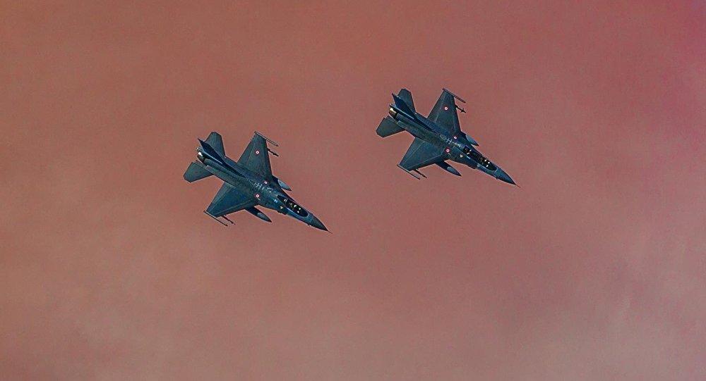 Cazas F-16 de la FA de Turquía