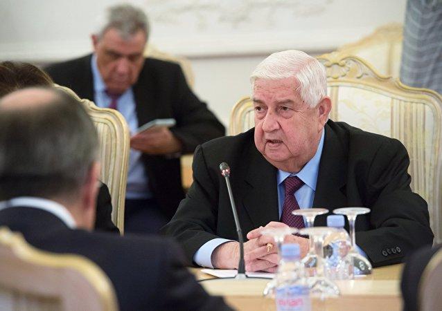 Walid Mualem, ministro de Exteriores de Siria