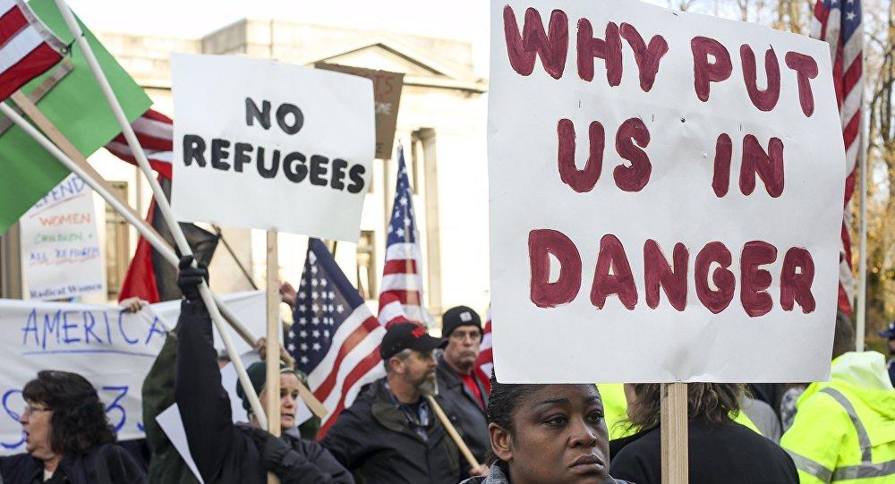 Protesta contra los refugiados en los EEUU (archivo)