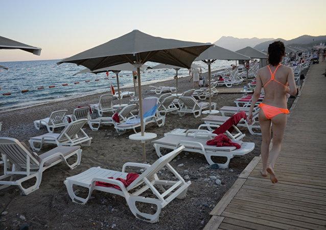Turistas rusos en Antalya, Turquía