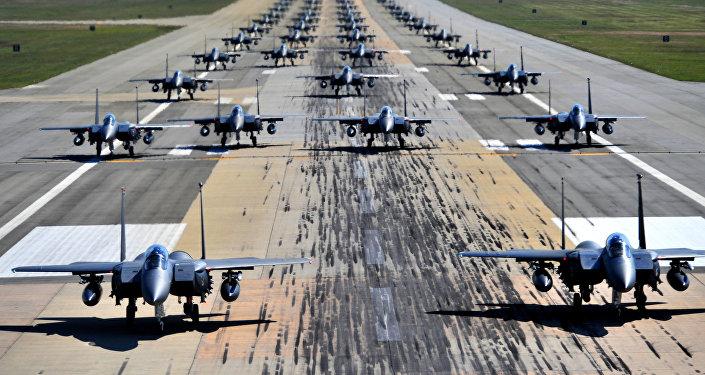 Cazas estadounidenses F-15