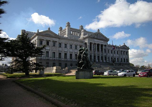 Palacio Legislativo, sede de la Asamblea General de Uruguay