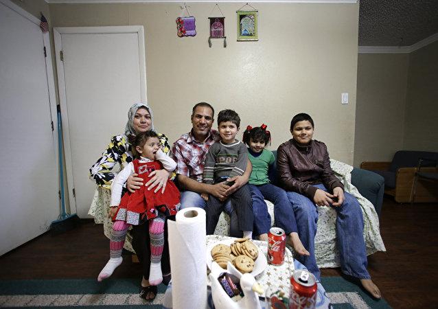 Una familia de refugiados en Texas