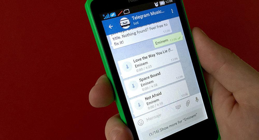 MusicCatalogBot en Telegram Messenger