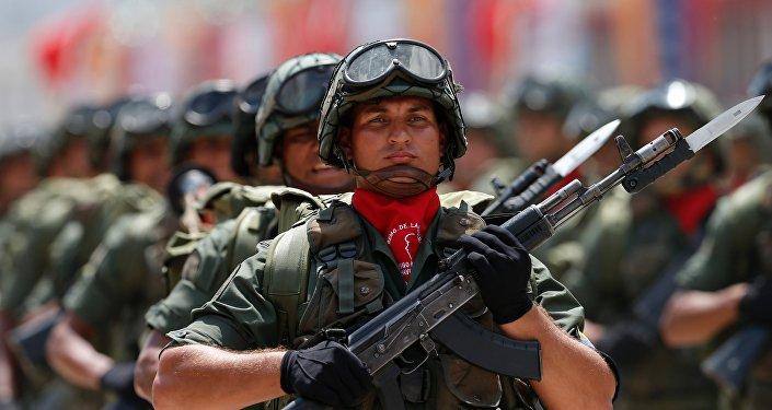 Desfile militar en Caracas, Venezuela