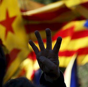 Banderas independistas de Cataluña