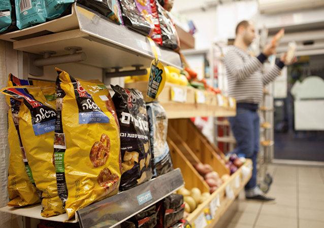 Alimentos procedentes de los asentamientos judíos en Cisjordania