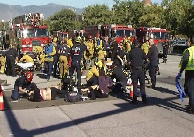 Lugar del tiroteo en San Bernardino