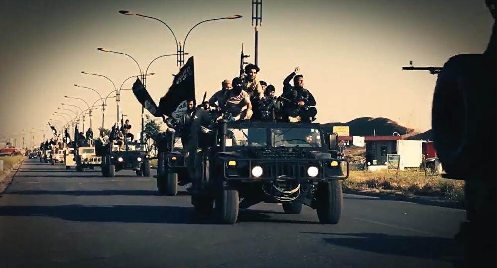 Terroristas yihadistas del grupo Daesh