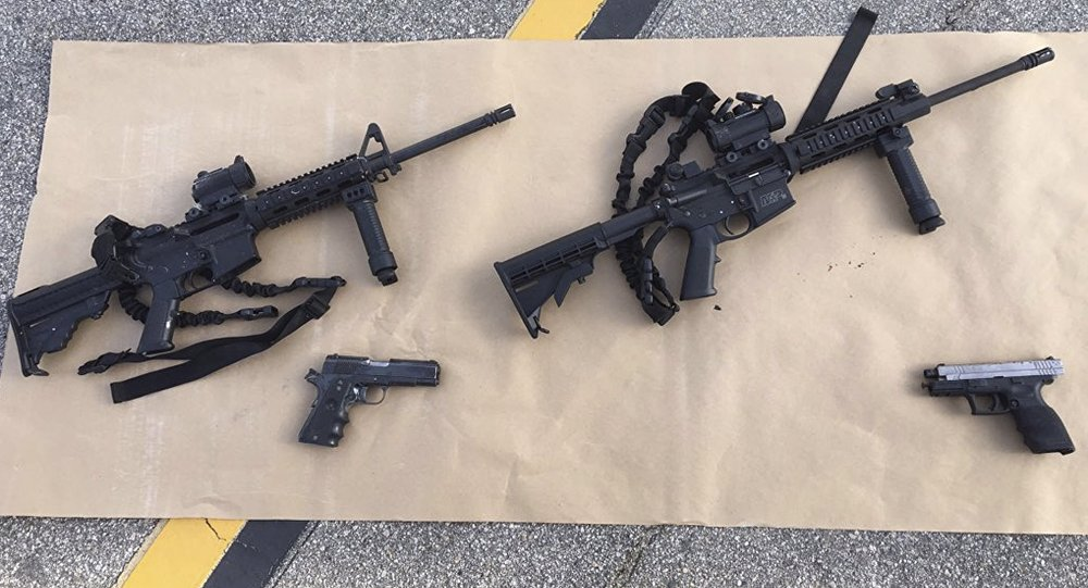 Armas confiscadas después el tiroteo masivo en San Bernardino