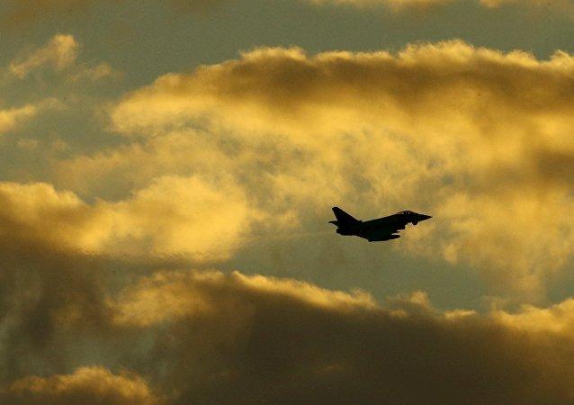 Caza Typhoon de la Fuerza Aérea británica