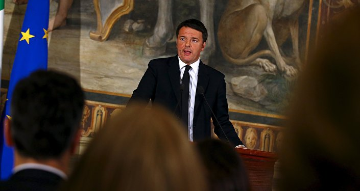 Matteo Renzi, primer ministro de Italia (archivo)