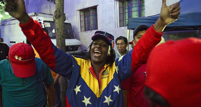 Seguidores del actual presidente de Venezuela, Nicolás Maduro