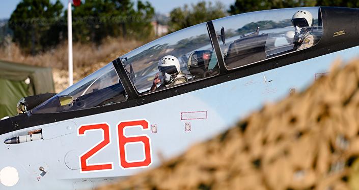 Caza ruso en la base aérea de Hmeymim en Siria (archivo)