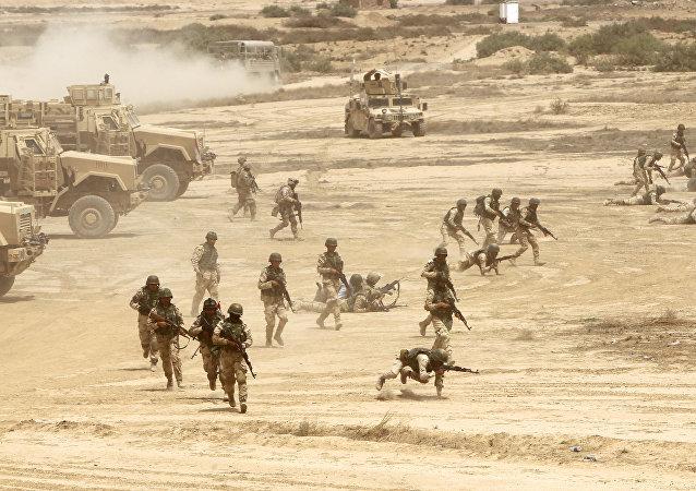 Entrenamiento de soldados en Irak (Archivo)