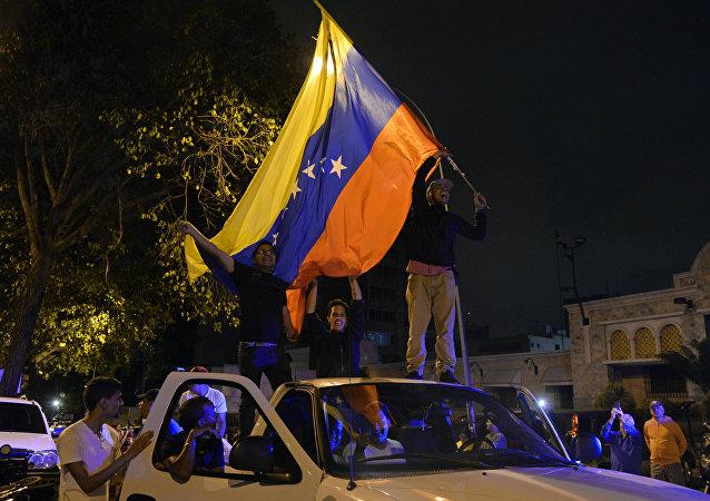 Partidarios de la oposición venezolana